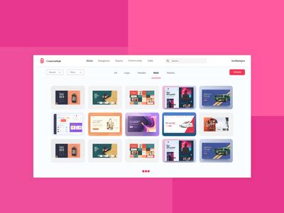 Dribbble style website