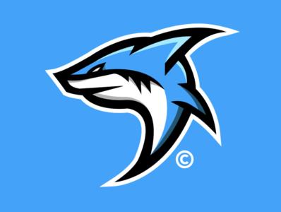 SHARK // DESIGN illustration identity icon graphic design flat esports design clean branding brand blue art