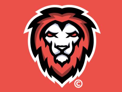 LION // DESIGN illustration identity icon graphic design flat esports design clean branding brand blue art