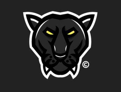 PANTHER // DESIGN illustration identity icon graphic design flat esports design clean branding brand blue art