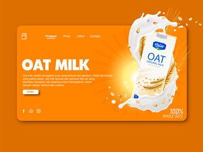 Orange Landing page Oatmilk web design website landingpage uiuxdesigner orange uiux web landing page ui uiuxdesign uiux design design clean ui branding brand