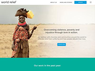 World Relief Website design website