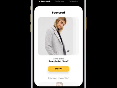 Designer Clothing Store (With Sound!) store app clothes clothing mobile app design mobile design mobile app mobile ui mobile ecommerce design ecommerce app ecommerce ios app ux ui minimalistic interface clean