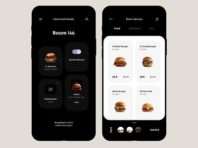 Hammock Hotels hotel app hotel food and drink foodie food app food mobile design mobile ui mobile app design mobile app mobile ios app ux ui minimalistic interface clean