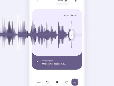 Seismograph Network App mobile app design mobile app mobile ios minimalistic interface clean ux ui app