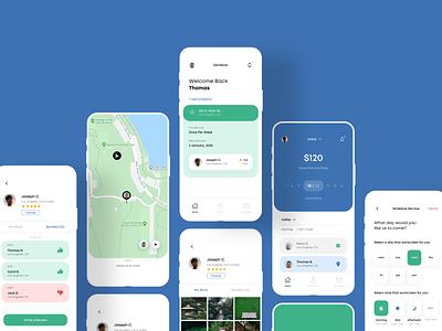 Gardener mobile app design mobile app mobile ios app interface ux ui minimalistic clean