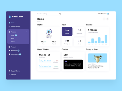 WitchCraft – Job Board (more cards) charts statistics web app dashboard app dashboard dashboard ui dashboad website web design web interface ux ui minimalistic clean