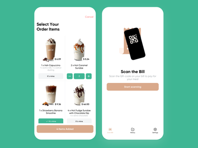 Paynt – Untangle Restaurant Bills meal food app cafe restaurant delivery pizza food store shop mobile app mobile ios app interface ux ui minimalistic clean