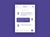 Daily UI challenge #0013 — Direct Messaging