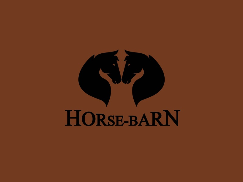 Horse-Barn vector design logo graphic design