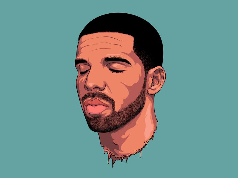 Drake portrait art vector design portrait illustration illustration flat illustration