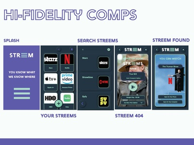 Streem Comps mobile design