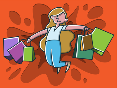 Shopping Day Illustration