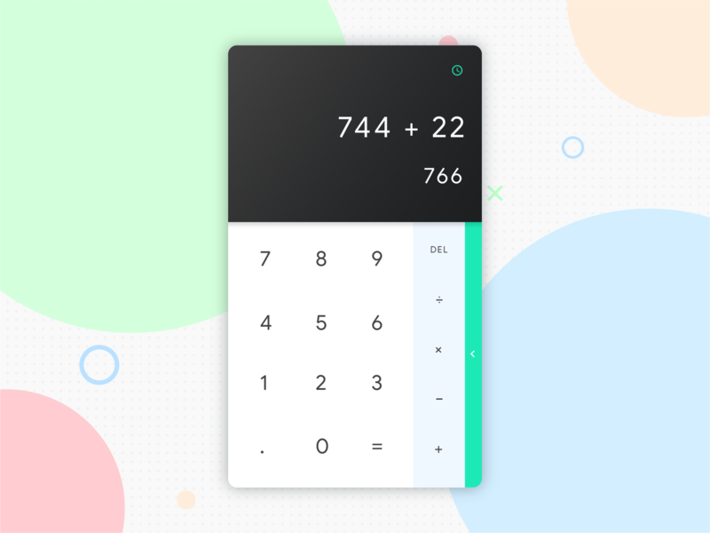 Daily UI - #004 calculator challenge dailyui app 004