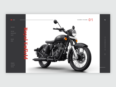 Royal Enfield - Landing Page Concept