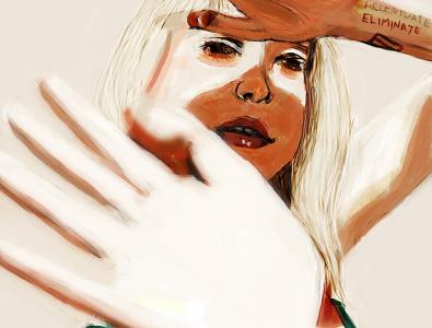 sun blush design band paramore digital art fanart photoshop digital illustration portrait