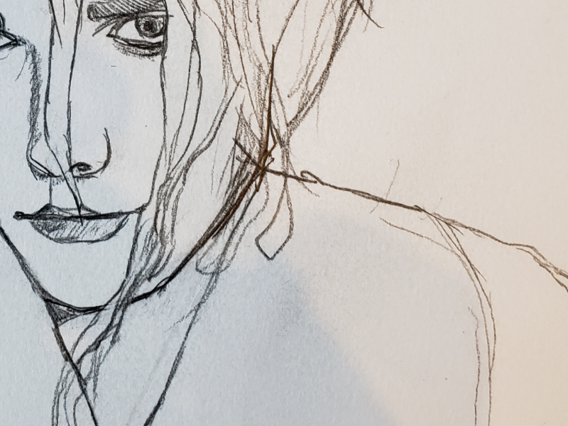 Work in progress gerard way lineart drawing portrait doodle wip