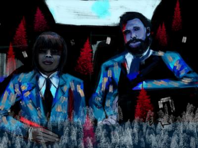 Too cool for halos hazel cha cha christmas portrait digital netflix umbrella academy