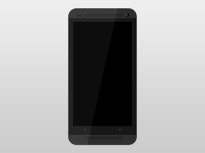 Htc One Template template android htc phone mobile flat black