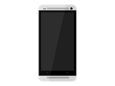 Htc One Template White android htc phone mobile template flat white