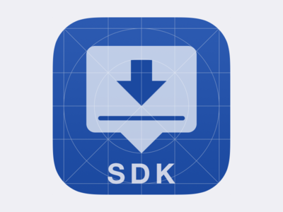SDK Icon - Grid icon ios sdk sign grid blue app