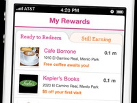 Rewards iPhone App