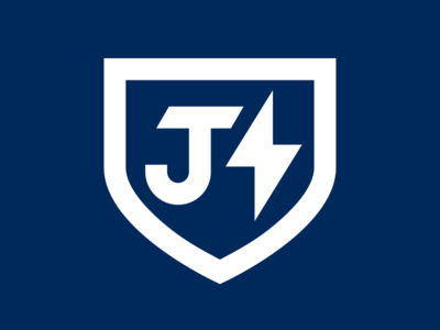 New Logo - JBolt blue white custom brand mark logo