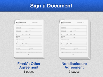Sign A Document paper shadow page document documents bent ipad fold
