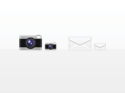 Icons icons camera envelope mail retina iphone ipad