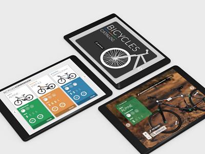 Interactive Catalog ipad app app bicycles visual design ipad interaction design ui design