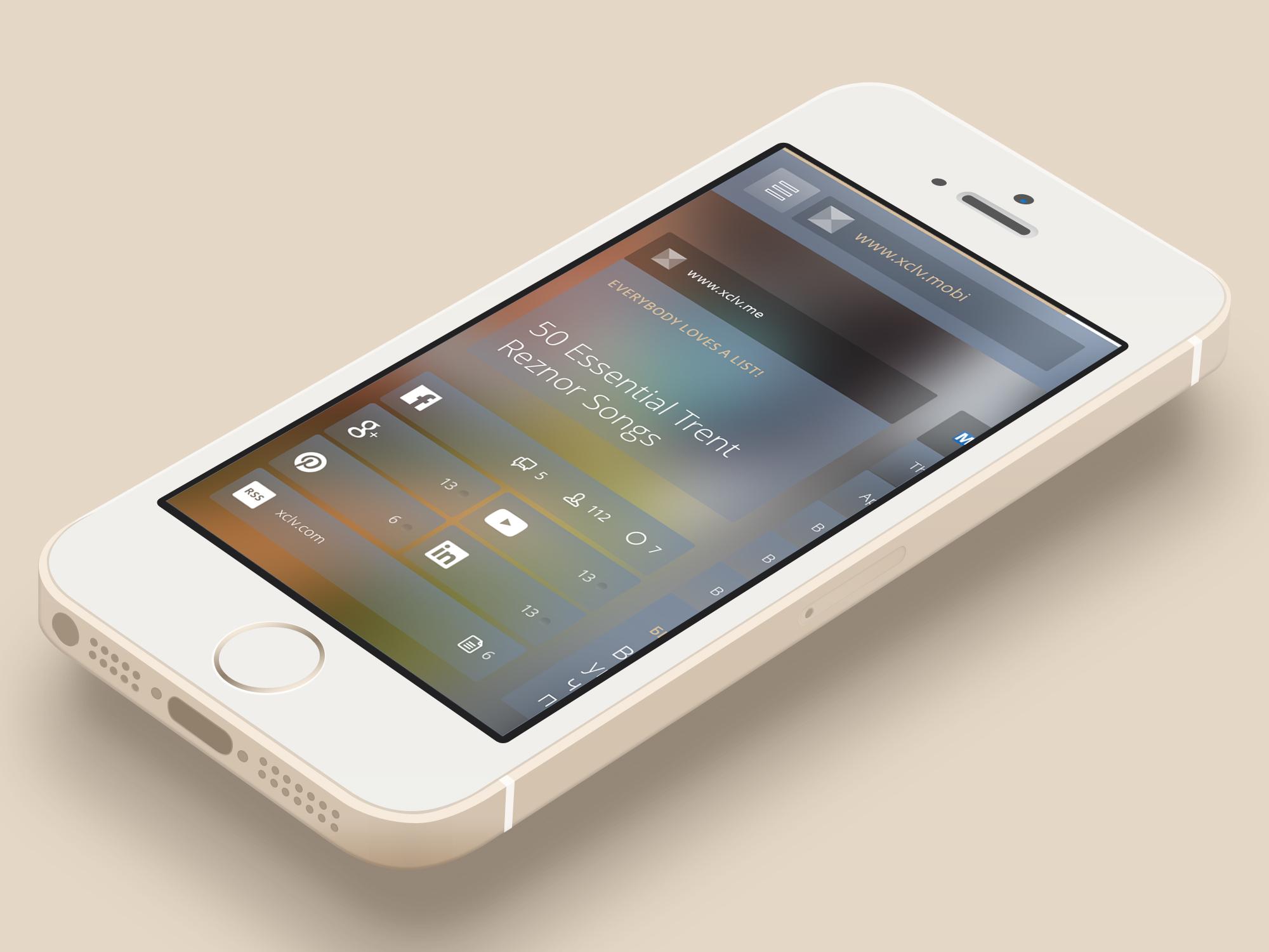 Iphone5s minimal gold