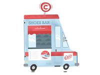 Illustration Citadium Shoes Bar