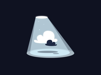A UFO meet some clouds