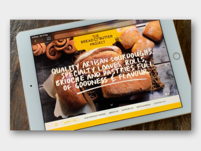 The Bread and Butter Project. WordPress Theme development.
