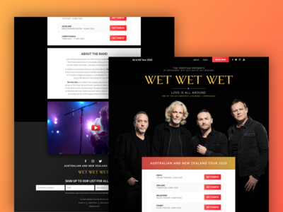 Band Tour - One Page Web Design
