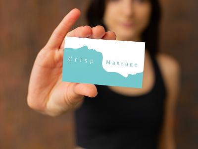Crisp Massage card branding
