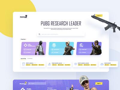 PUBG Tournaments Research Tool logo tournament championship web ux ui game statistics dashboard pubg