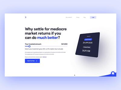 weathX.ai - Website stocks wealth invest finance fintech logo design ui web
