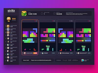 Skillz Streaming App ui app streaming game web