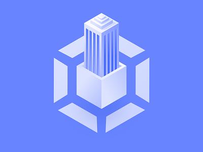 dbWatch Illustration icon illustration building corporate database