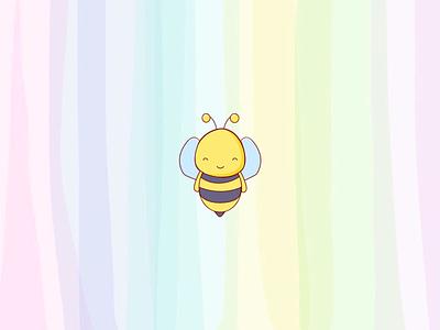 Cute honeybee artwork mornings feelings illustrations chat app chatbot icon honeycomb love gradient beautiful cute honeybee visual art animal environment relax insect illustration art illustraion