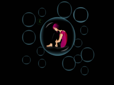 In a bubble illustration