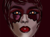 clients from hell flat simple vector art girl red paint illustrator