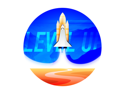 Level Up heading rise rise up upwards rocket level up