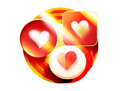 Feeling of affection shining bright golden bubble sunshine feel affection like love heart