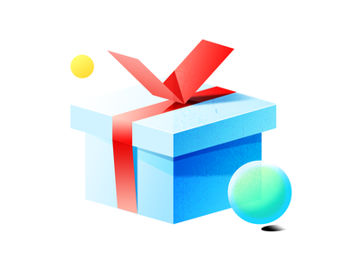 Gift bubble sphere box present gift