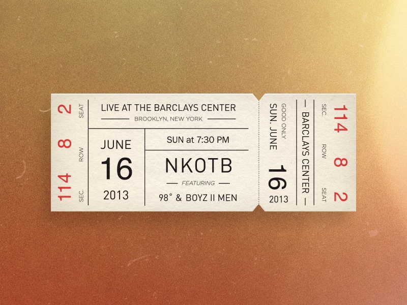 Dribbble  Concert Ticket Design