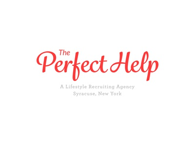 Perfect Help Logo logo branding simple clean agency nanny housekeeper maid cook chef personal assistant