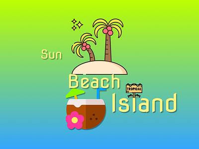 Sun Beach Island Branding design graphic design logo branding