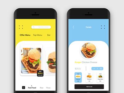 Restaurant mobile app debut mobile app food ios mobile ux branding ui